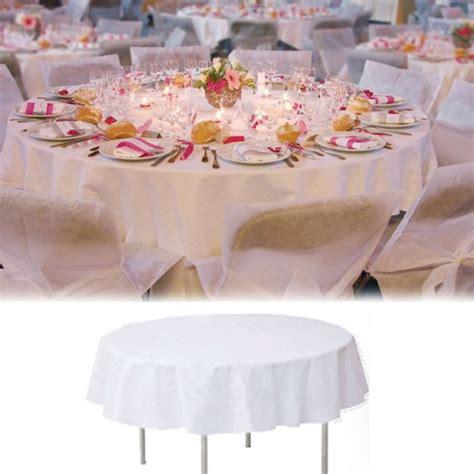 nappe de table ronde blanche 240cm
