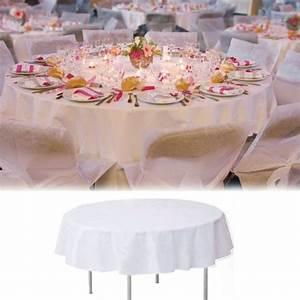 Nappe De Table Ronde : nappe de table ronde blanche 240cm ~ Teatrodelosmanantiales.com Idées de Décoration