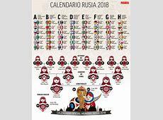 Mundial 2018 Calendario del Mundial de Rusia 2018 en PDF