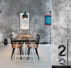 Papier Peint Style Industriel : papiers peints pour une salle manger industrielle blog ~ Dailycaller-alerts.com Idées de Décoration