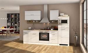 Küche Mit Elektrogeräten Günstig Kaufen : k chenzeile m nchen vario 1 k che mit e ger ten breite 270 cm hochglanz wei k che ~ Indierocktalk.com Haus und Dekorationen