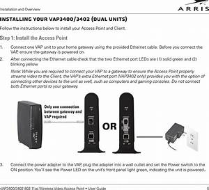 Arris Vap3400 802 11ac 5ghz 4t4r Access Point User Manual