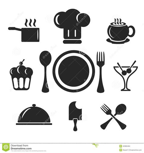 Kitchen And Cook Web And Mobile Icons Vector Stock