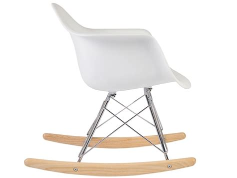 chaise rar eames rocking chair moderne blanc ciabiz com