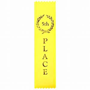 5th Place Flat Ribbon, Completion Ribbon, Traditional Ribbon