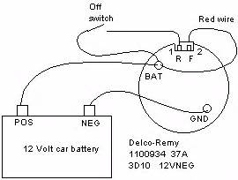 similiar 3 wire alternator wiring diagram keywords wire delco remy alternator wiring diagram on 2wire alternator wiring