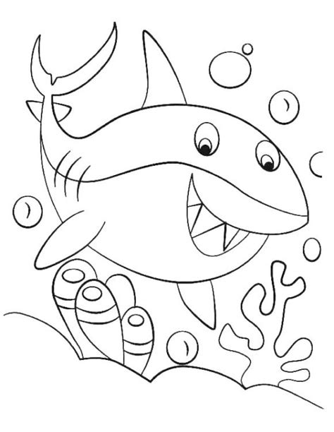 baby shark coloring page shark coloring pages summer
