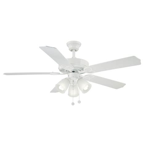 home depot 52 inch ceiling fans brookhurst 52 in indoor white ceiling fan yg268 wh the