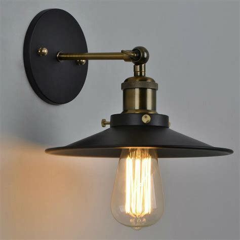 vintage industrial style metal wall mount l light