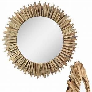 Spiegel Holz Rund : gro er spiegel mit rahmen aus holzst cken massiv holzrahmen wandspiegel holz spiegel rund oder ~ Whattoseeinmadrid.com Haus und Dekorationen