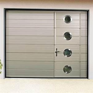 Porte De Garage Sectionnelle Avec Porte : porte de garage sectionnelle plafond porte motoris e ~ Edinachiropracticcenter.com Idées de Décoration