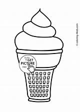 Ice Cream Coloring Pages Printable Icecream Cone Drawing Melting Soft Truck Sheets 4kids Printables Getdrawings Getcolorings Template Drawings sketch template