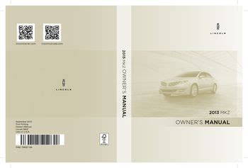 lincoln mkz owners manual   pages