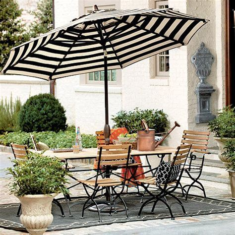 patio black and white striped patio umbrella home