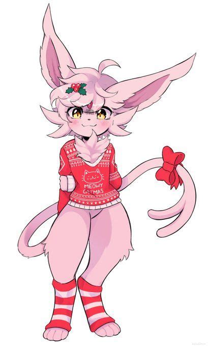 christmas espeon bab furry art anime furry cute