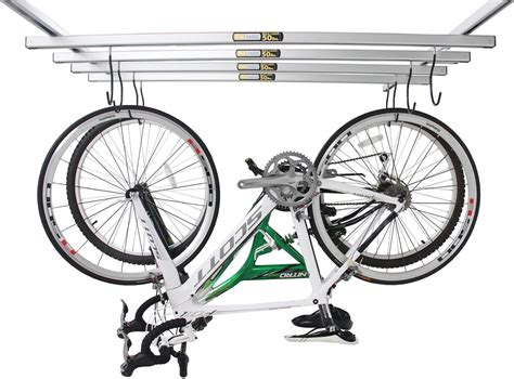 ceiling bike rack saris cycleglide ceiling mounted 4 bike storage system