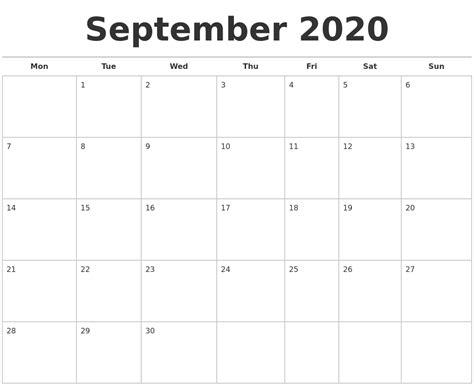 september  calendars