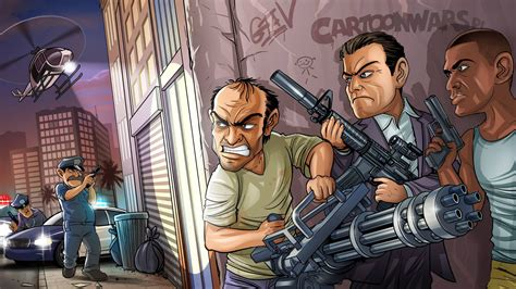 full hd wallpaper gta  main characters skirmish desktop backgrounds hd p