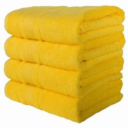 Towels Bath Yellow Hotel Spa Bathroom Absorbent