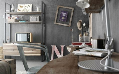 chambre style industrielle idee deco chambre industrielle