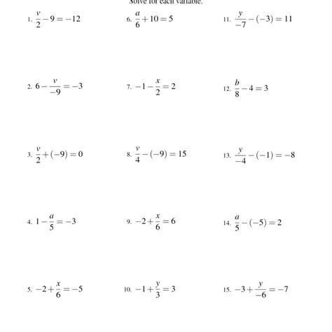 Solving Multiple Step Equations Worksheet Clubdetirologrono