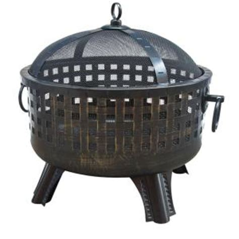 landmann garden lights antique bronze pit
