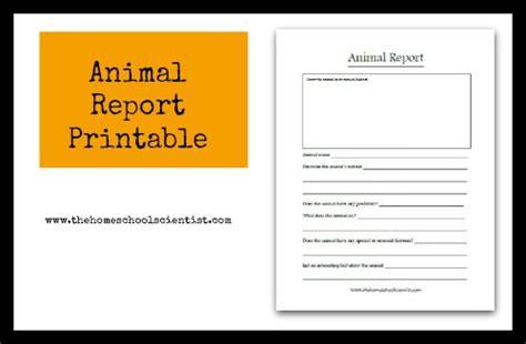 animal report printable