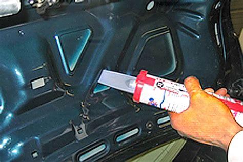 car door insulation installing heat and sound insulation hotrod hotline