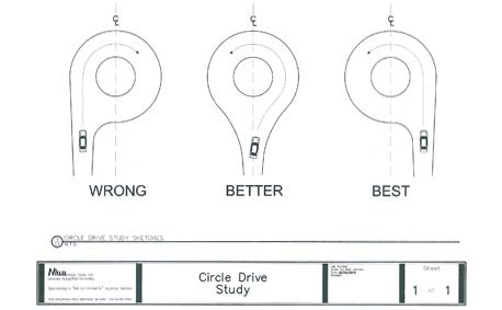 turning radius for driveway courtyard driveway house plans circle circle driveway study sketches log home ideas