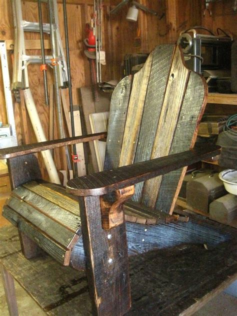 handmade rustic barn wood adirondack chairs by born in a