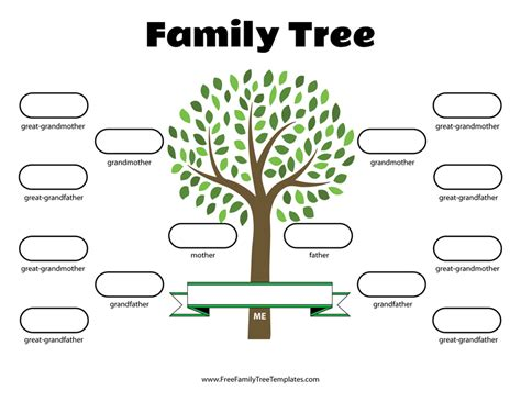 4 Generation Family Tree Template 12 Free Sle Family Tree Template 4 Generation A Printable Blank