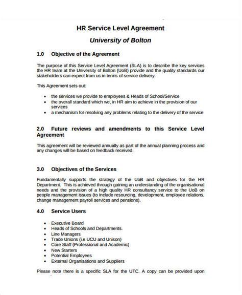 service level agreement template gtld world congress