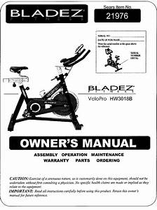 Bladez 11021976 User Manual Velopro Pro Exercise Bike