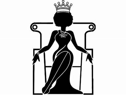Silhouette Afro Queen African American Svg Woman
