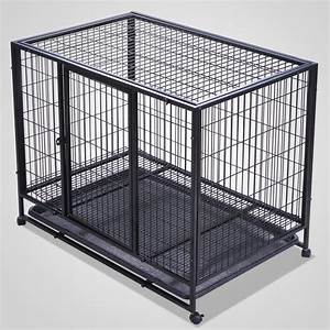 37inch heavy duty metal dog cage double door dog crates With best place to buy dog kennel
