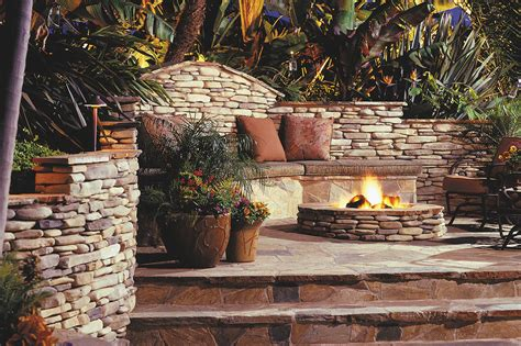 Kittredge™ Gas Burning Fire Pit  Eldorado Stone
