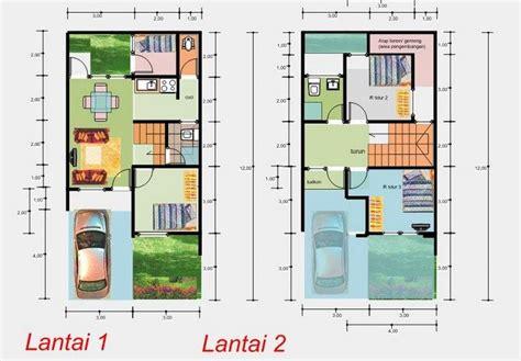 denah rumah minimalis sederhana  lantai  denah