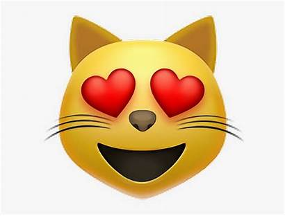 Emoji Cat Meaning Lovely Heart Eyes Clipart