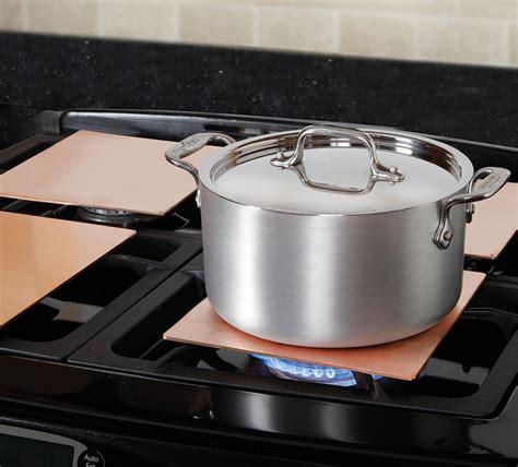 heating copper burner plates