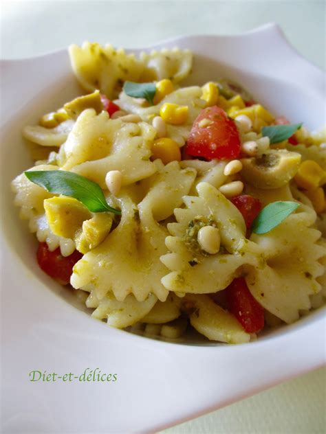 salade de pates au pesto salade de p 226 tes au pesto diet d 233 lices recettes diet 233 tiques