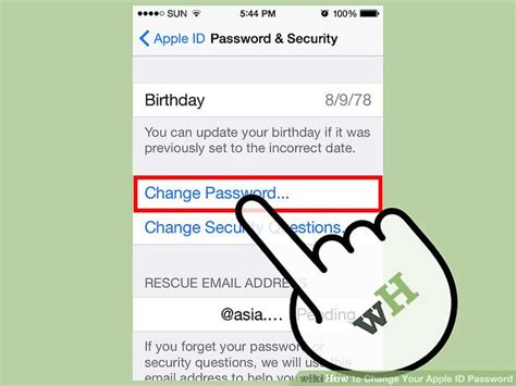 how to change security questions on iphone 3 ways to change your apple id password wikihow
