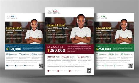 donation flyer template charity donation flyer template flyer templates on creative market