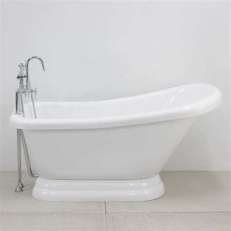 Pedestal Tub by 59 Quot Single Slipper Pedestal Tub And Faucet Package