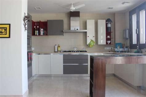 Kitchen Island Table India by White Grey And Modular Kitchen Delhi Home Tour Delhi