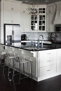 ivory kitchen cabinets transitional kitchen little With what kind of paint to use on kitchen cabinets for black silver wall art