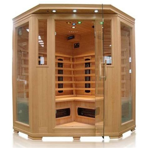concept usine cabine sauna infra 3 4 places luxe infrarouge pas cher achat vente