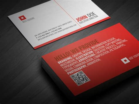 Red Square Quick Response Business Card Business Thank You Cards Wording Samples Custom App Apps For Android Adelaide Uni Top Maker Apple Plantable Australia Avery Inkjet