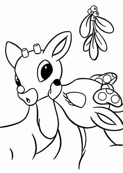 Coloring Pages Rudolf Rudolph Reindeer Nosed Clarice