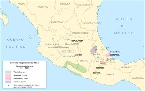 Insurgent Resumen by Archivo Resistencia Insurgente En M 233 Xico 1814 1821 Svg