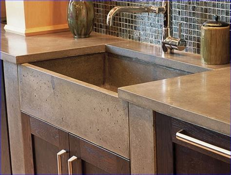 concrete sink kitchen 49 best concrete kitchen sink images on 2434